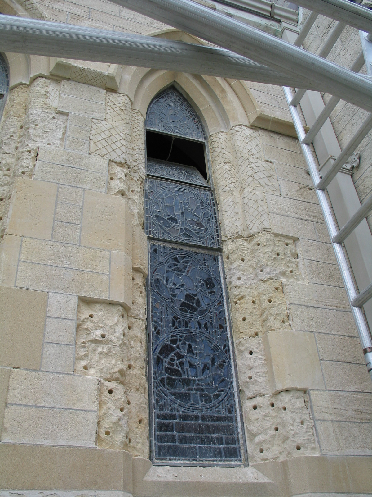 Bermuda patching copy inset for stone restoration