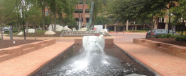 Canal Plaza Mouth Fountain