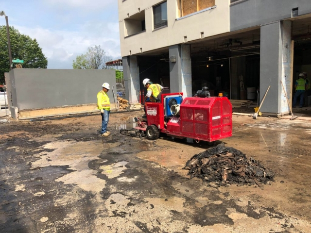 J Van Story Branch Apts Coating Removal 4