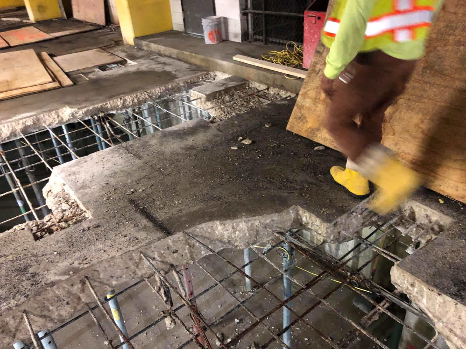 J Van Story Branch Apts Garage Concrete Rehab 10
