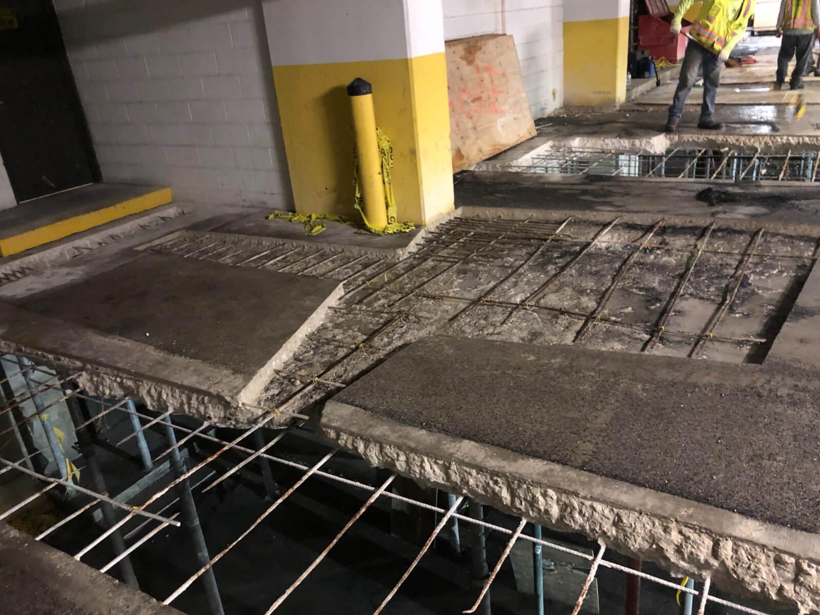 J Van Story Branch Apts Garage Concrete Rehab 14