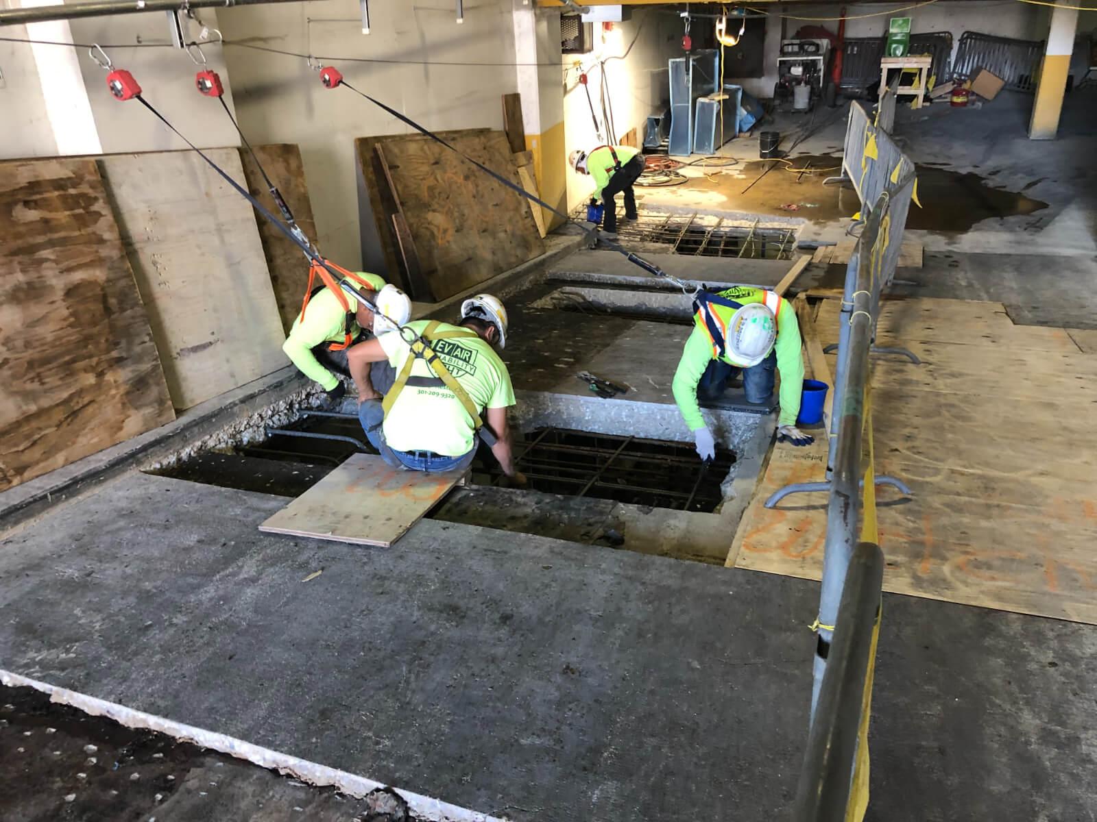 J Van Story Branch Apts Garage Concrete Rehab 15