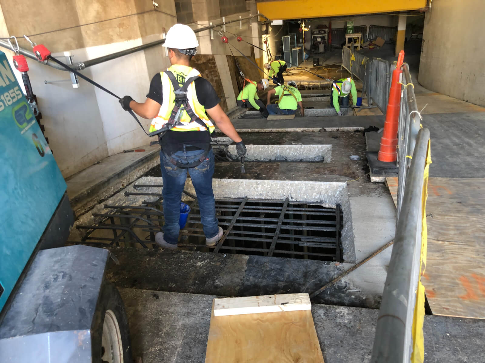 J Van Story Branch Apts Garage Concrete Rehab 17