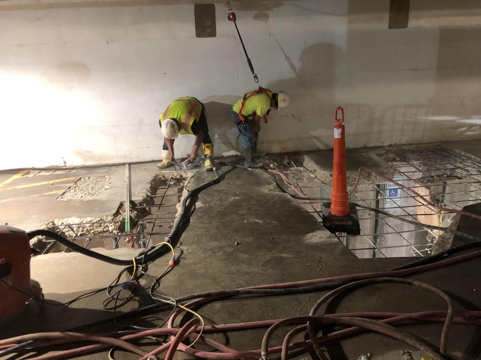 J Van Story Branch Apts Garage Concrete Rehab 19