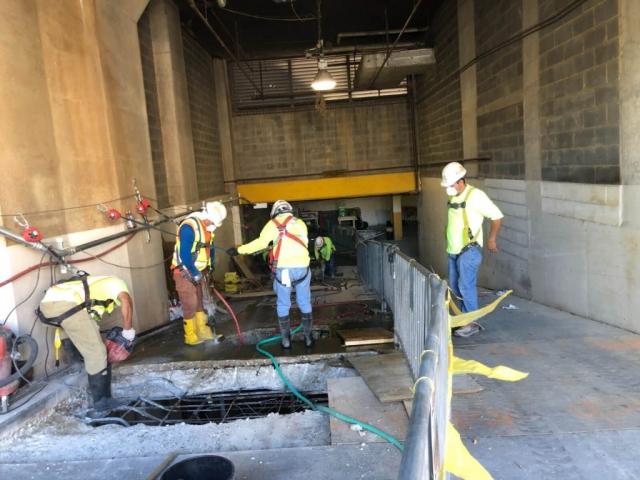 J Van Story Branch Apts Garage Concrete Rehab 24