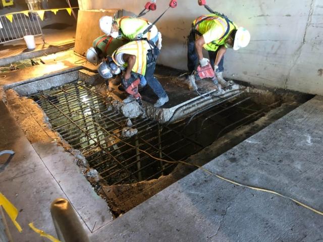 J Van Story Branch Apts Garage Concrete Rehab 25