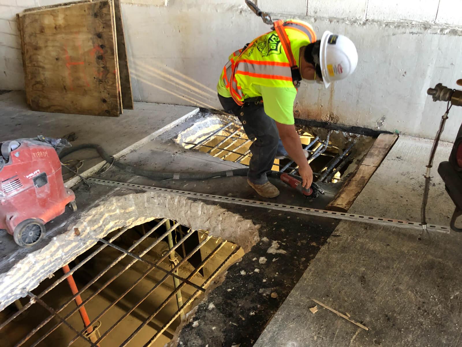 J Van Story Branch Apts Garage Concrete Rehab 26