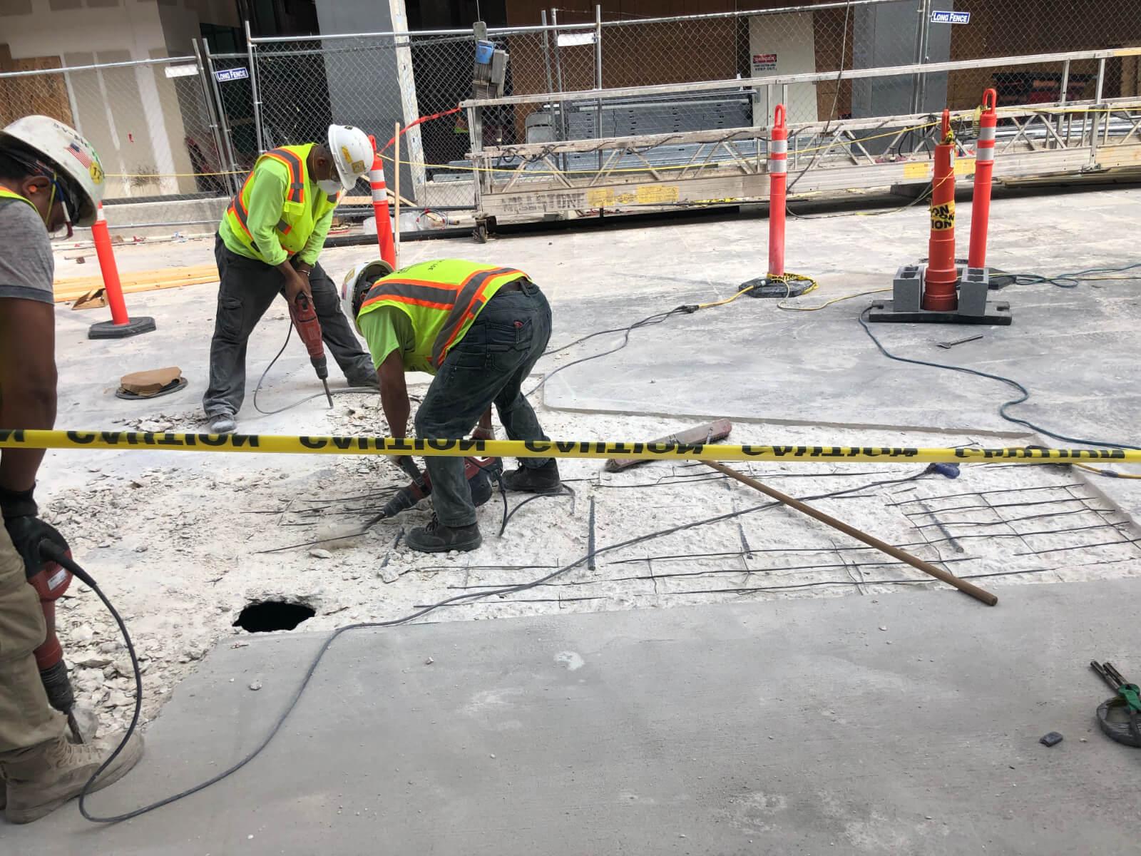 J Van Story Branch Apts Garage Concrete Rehab 29