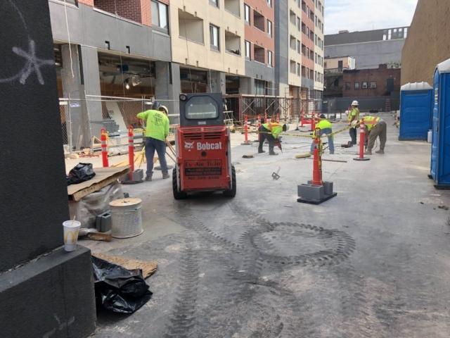 J Van Story Branch Apts Garage Concrete Rehab 30