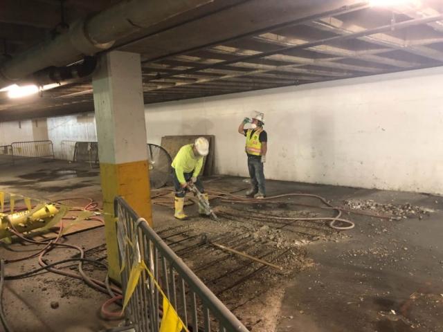 J Van Story Branch Apts Garage Concrete Rehab 6