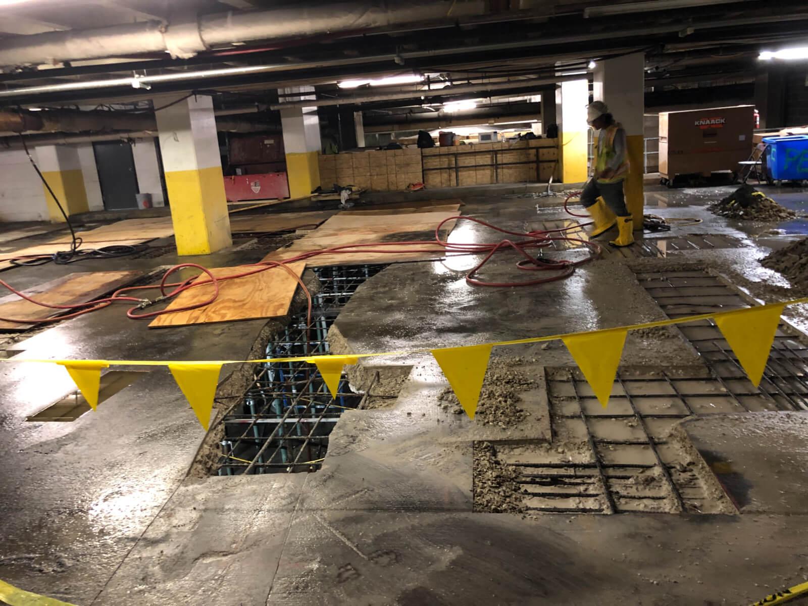 J Van Story Branch Apts Garage Concrete Rehab 9